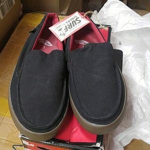 Vans black surf sliders shoes mens size 7